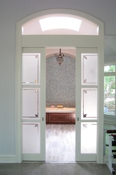 Glass Pocket Doors pair of pocket doors with windows - master closets/toilet closet
