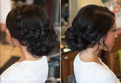 unusal whimsial braids | This low up-do is so whimsical. The large braid pn the side is such a ...