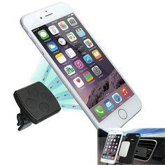 Universal Magnetic Coche Soporte de teléfono de ventilación Soporte de soporte