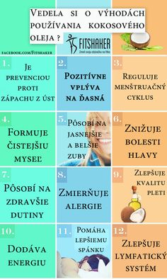 Na čo je dobrý kokosový olej? :-) Nordic Interior, Detox, Healthy Lifestyle, Exercises, Words, Exercise Routines, Excercise, Work Outs, Healthy Living