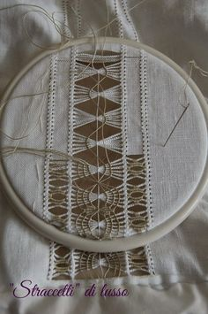 what beautiful drawn-thread needlework! Hardanger Embroidery, Hand Embroidery Stitches, White Embroidery, Embroidery Techniques, Ribbon Embroidery, Sewing Techniques, Embroidery Patterns, Sewing Patterns, Monks Cloth