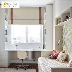 Trends in the interior design of the living room are more and more focused on sustainability and tho Girl Room, Girls Bedroom, Bedroom Decor, Kids Room Design, Home Office Design, Kids Study Spaces, Kids Rooms, Custom Drapes, My New Room