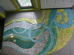 Mosaic entryway by Jennifer Kuhns