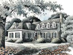 Floor Plans AFLFPW23609 - 2 Story Dutch Home with 4 Bedrooms, 3 Bathrooms and 3,045 total Square Feet