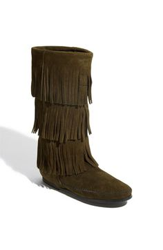 V-Luxury Womens Round Toe 4 Layers Fringe Native Knee High Flat Boot * Additional details at the pin image, click it : Boots Mid Calf Brown Flat Shoes, Brown Suede Boots, Suede Leather, Leather Boots, Flat Heel Boots, Bootie Boots, High Boots, Crazy Shoes, Me Too Shoes