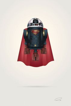 R2-D2 Star Wars Mashups with Superheroes Characters