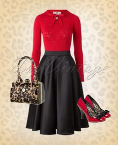Cherries & leopard a combination that every pinup girl adores!