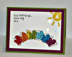 Card featuring Over the Rainbow by Independent Stampin' Up! Demonstrator Candice Fields