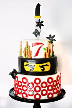 Awesome Lego Ninjago Inspired Birthday Party-cake