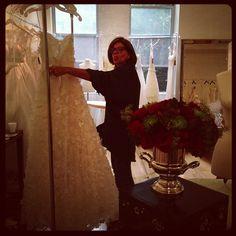 Preparándonos para esta noche - Getting ready for tonight. Bridal Spring 2013 #NY #BridalMarket #spring #bridal #white #love #novias #blanco #amor - @francescaonline- #webstagram