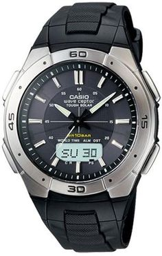 Casio WVA470J-1A Mens Watch Wave Ceptor Tough Solar Multi-Band Atomic Analog…