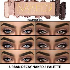 Lana CC Finds - HallowSims Naked 3 Palette
