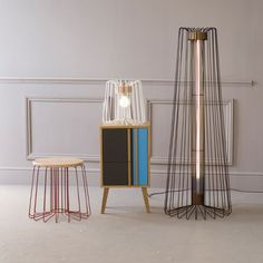 Wire Floor Lamp by And Then Design | MONOQI