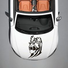 ANIMAL TIGER PREDATOR WILDCAT ART DESIGN HOOD CAR VINYL STICKER DECALS SV1059