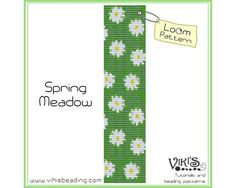 Loom pattern for bracelet: Spring Meadow - INSTANT DOWNLOAD pdf - Multibuy savings with coupon codes- bl60
