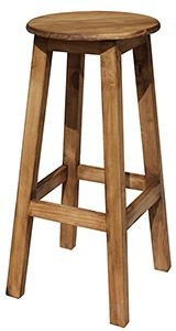 This barstool is ideal for around a kitchen island, next to one of our southwestern bars, or for use in a hobby or workshop area...anywhere you need high and comfortable seating.  Made by hand in Mexico, the solid pine construction is sturdy and durable.    LaFuente.com