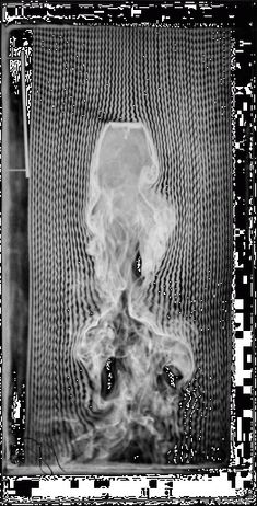 Fluid movement - by Etienne-Jules Marey, 1901 - Normal 5-centimeter plane, smoke machine equipped with 57 channels - © Cinémathèque française