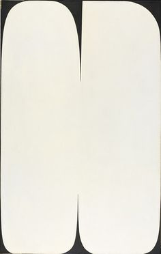 Ellsworth Kelly American, 1923 - 2015 Pole, 1957 Oil on canvas 203.2 x 128.3 cm (80 x 50 1/2 inches) The Albert Pilavin Memorial Collection of 20th-Century American Art 68.053,  RISD MUSEUM