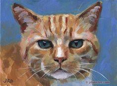 "Daily Paintworks - ""His Royal Orangeness"" - Original Fine Art for Sale - © J. Dunster"