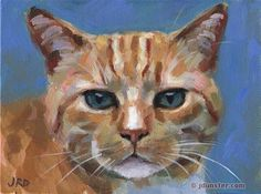 "Daily Paintworks - ""His Royal Orangeness"" - Original Fine Art for Sale - © J. Dunster"