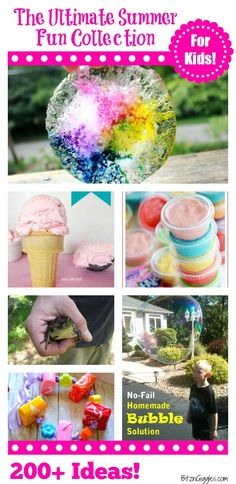 The Ultimate Summer Fun Collection - 200+ awesome summer activities and ideas to keep kids entertained this summer! Pin of the day!