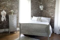 Allisters Surrounded by History Bedroom My Bedroom Retreat Contest Amazing exposed brick & storage elements...and those WINDOWS!