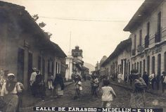 Calle Carabobo My Ancestry, Old School, Street View, Medellin Colombia, Antique Photos, Past Tense, Recycling, Street, Earth