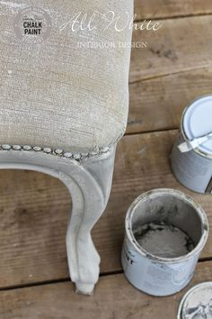 All White: Chalk Paint™: come trasformare una sedia con cuscino in velluto