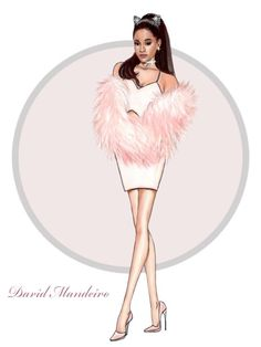 """Ariana Grande """"Scream Queens"""" by David Mandeiro  Bff Drawings, Princess Drawings, Fashion Illustration Sketches, Fashion Design Sketches, Mens Style Looks, Fashion Design Classes, Ariana Grande Drawings, Ariana Grande Outfits, Scream Queens"""