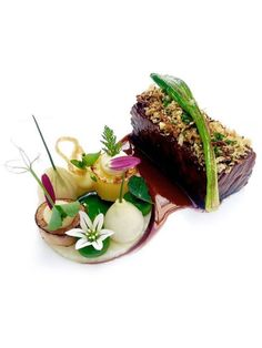Wagyu short rib, celery, onions, and leeks by chef Jan Hartwig of Atelier in Munich, Germany. ©️️ Atelier - See more at: http://theartofplating.com/news/wagyu-short-rib/
