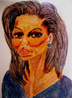 Drawing FLOTUS 1 Colored Pencils on 12 x 9 by StaceyTorresART