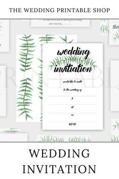 Items similar to Botanical Wedding Invitation Printable Botanical Wedding Invitations, Engagement Party Invitations, Printable Wedding Invitations, Wedding Stationery, Floral Printables, Stationery Design, Botanical Prints, Diy Party, Diy Wedding