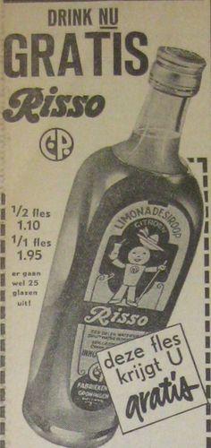 Risso C.P. (Calmer Polak G zn.) Groningen - limonade siroop - reclame - Ranja = sinaasappelsiroop - Rojo = frambozensiroop - Risso = citroensiroop - Cerisso = kersensiroop - Grefita = grapefruitsiroop