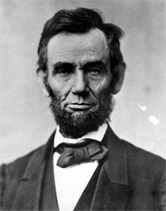 President  Abraham Lincoln.                           Civil War's most important person.