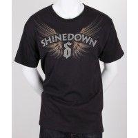 Shinedown Sketch Wings Mens Basic T-shirt