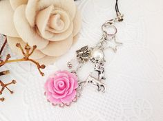 Resin Rose Filofax or Planner Charm Bag Charm A by PrettySang, $12.00