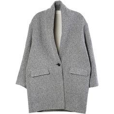 Isabel Marant Edilon Coat (€520) ❤ liked on Polyvore featuring outerwear, coats, jackets, clothing - outerwear, coats & jackets, isabel marant coat and isabel marant