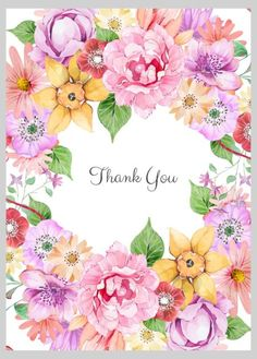 Victoria Nelson - Floral Thank You Wreath Thank You For Birthday Wishes, Thank You Wishes, Thank You Greetings, Thank You Messages, Thank You Quotes, Happy Birthday Images, Birthday Messages, Happy Birthday Cards, Birthday Greetings