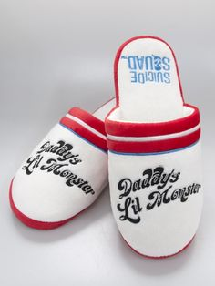 Suicide Squad Harley Quinn Daddy' Little Monster Retro Adult Mule Slippers