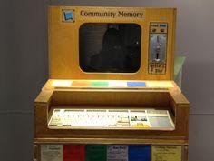 Community Memory Terminal - early 1970s SanFrancisco/Berkeley area.  First Social Media Experiment.