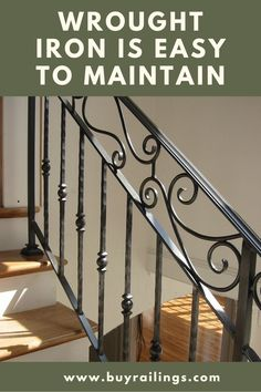 Handrails For Interior Stairs Wrought Iron Stair Railing Hand Crafted Custom Interior Wrought Iron Railing By Iron Staircase Railing, Interior Stair Railing, Wrought Iron Staircase, Wrought Iron Stair Railing, Stair Railing Design, Wrought Iron Decor, Iron Balusters, Wrought Iron Fences, Grades