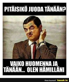Pitaisiko juoda tanaan? - HAUSK.in Funny Memes, Hilarious, Jokes, Funny Quotes About Life, Life Quotes, Lyric Quotes, Lyrics, I Laughed, Cool Pictures