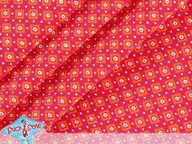 Jersey Tiny Dots rot / orange - Baumwolljersey