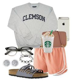 """""""i wish i was cute,smart,funny,enjoyable,fun,spontaneous,and perfect..."""" by sofiaestrada ❤ liked on Polyvore featuring NIKE, Michael Kors, Birkenstock and Bling Jewelry"""