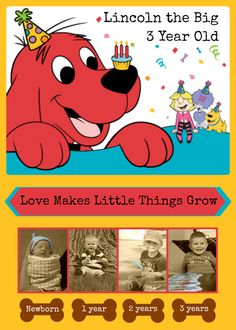 Jennifer H's Birthday / Clifford the Big Red Dog - Lincoln's Clifford the Big Red Dog Birthday at Catch My Party Birthday Cards For Mom, 5th Birthday Party Ideas, Birthday Gifts For Boys, Picnic Birthday, Dog Birthday, Baby First Birthday, Dog Themed Parties, Puppy Day, Animal Party