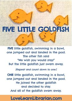 Five Little Goldfish Circle Time Song