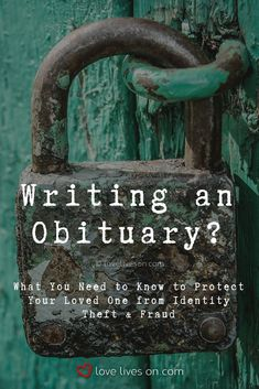 Find out how obituaries make you vulnerable to theft and identity fraud. Funeral Ideas, Funeral Planning, Identity Fraud, How To Protect Yourself, Love Life, Vulnerability, Friends Family, Soldiers, Need To Know