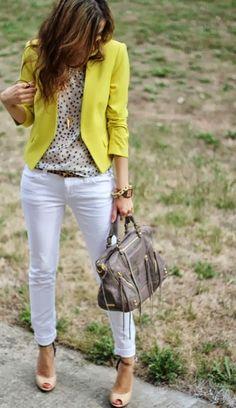 ideias para looks com amarelo