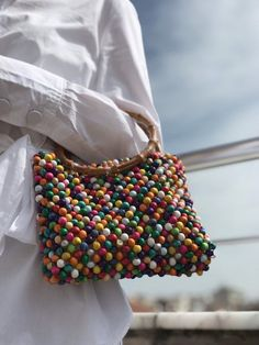 Items similar to Colorful beaded bag wooden beaded bag summer beaded bag beaded hand bag beaded bucket bag beaded evening on Etsy Beaded Clutch, Beaded Purses, Beaded Bags, Cute Handbags, Purses And Handbags, Tribal Bags, Parisienne Chic, Diy Handbag, Handmade Bags
