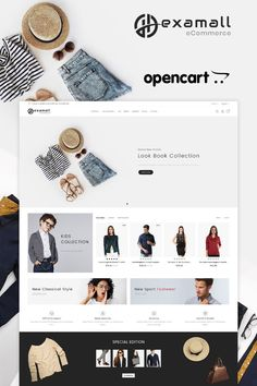Buy HexaMall Opencart MultiPurpose Responsive Theme by WinterInfotech on ThemeForest. Compatibility OpenCart Version THEME OVERVIEW Hexamall Opencart theme it is a simple and clean layout with ele. Ecommerce Website Design, Website Design Layout, Website Design Inspiration, Layout Design, Computer Theme, News Web Design, Pose, Photoshop, Kids Wear